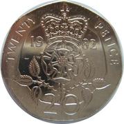 20 pence Elizabeth II (2e effigie) -  revers