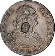 ½ dollar (contremarque George III) – avers