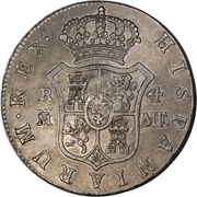 ½ dollar (contremarque George III) – revers
