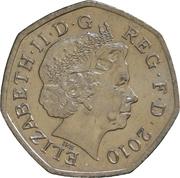 50 pence Girlguiding britannique (cupronickel) -  avers