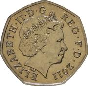 50 pence JO 2012 Pentathlon moderne (cupronickel) -  avers