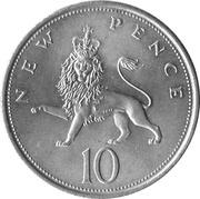 10 nouveaux pence Elizabeth II (2e effigie) -  revers