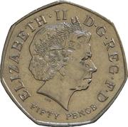 50 pence WWF (cupronickel) -  avers