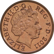 1 penny Elizabeth II (4e portrait; Blason Royal) -  avers