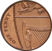 1 penny Elizabeth II (4e portrait; Blason Royal) -  revers