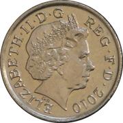 5 pence Elizabeth II (4e effigie, type blason, cupronickel) -  avers