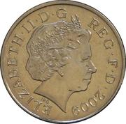 10 pence Elizabeth II (4e effigie, type blason, cupronickel) -  avers