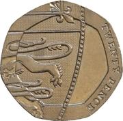 20 pence Elizabeth II (4e effigie, type blason) -  revers