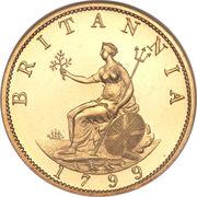 ½ Penny - George III – revers