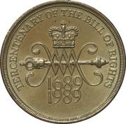 2 livres Charte des droits de 1689 (nickel-laiton) -  revers