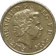 1 livre Elizabeth II (4e effigie, Irlande du Nord, laiton) -  avers