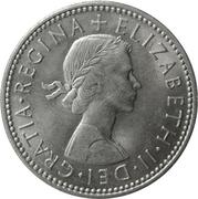 """1 shilling Elizabeth II (1ère effigie, sans """"BRITT:OMN:"""", blason de l'Écosse) -  avers"""