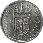 """1 shilling Elizabeth II (1ère effigie, sans """"BRITT:OMN:"""", blason de l'Écosse) -  revers"""