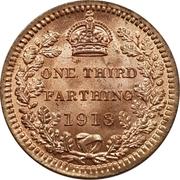 ⅓ farthing George V – revers