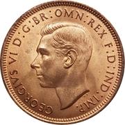 "½ penny George VI (avec ""IND:IMP."") -  avers"