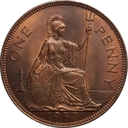 "1 penny George VI (avec ""IND:IMP."") -  revers"