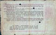 10 Shillings - Postal Order – revers
