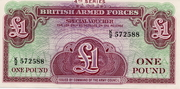 1 Pound (British Armed Forces; 4th series) – avers