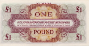 1 Pound (British Armed Forces; 4th series) – revers