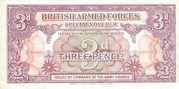 3 pence (British Armed Forces; 1st series) – avers