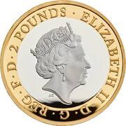 2 Pounds - Elizabeth II (Wedgwood; Silver Piedfort) -  avers