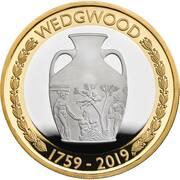 2 Pounds - Elizabeth II (Wedgwood; Silver Piedfort) -  revers