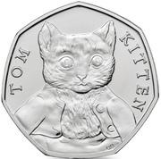50 Pence - Elizabeth II (Tom Kitten) -  revers