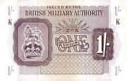 1 Shilling - British Military Authority – avers