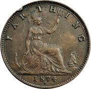 "1 farthing Victoria (""bun head"", bronze) – revers"