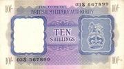 10 Shillings - British Military Authority – avers