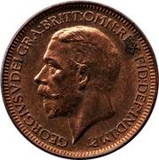 1 farthing George V (2e effigie) – avers