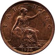1 farthing George V (2e effigie) – revers