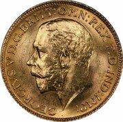 1 souverain George V -  avers