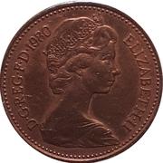 1 nouveau penny Elizabeth II (2e portrait) -  avers