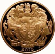 5 Pounds - Elizabeth II (3rd portrait; Coronation Jubilee, Gold Proof) -  avers
