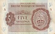 5 Shillings - British Military Authority – avers