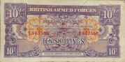 10 Shillings - British Armed Forces – avers