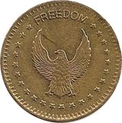 "Jeton - No Cash Value (Aigle regardant à gauche ; ""Freedom""; laiton ; 25mm) – avers"