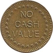 "Jeton - No Cash Value (Aigle regardant à gauche ; ""Freedom""; laiton ; 25mm) – revers"
