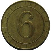 Jeton 6 Pence (R&W) – revers