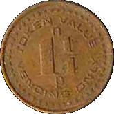1¼ pence token – avers