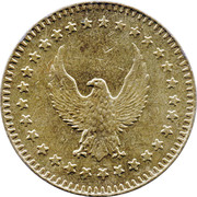 Token - No Cash Value (Eagle looking left; without text; Brass; 28.5 mm) – avers