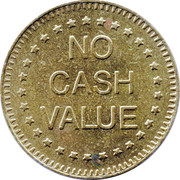 Token - No Cash Value (Eagle looking left; without text; Brass; 28.5 mm) – revers