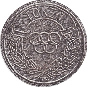 Token - MMC Olympic rings (29 With a sticker ) – avers