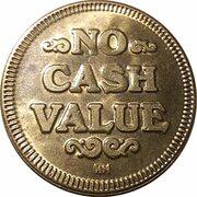 No cash value game token – revers