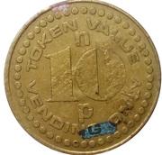 10 New Pence (Vending Token; counterstamped MMM) – avers