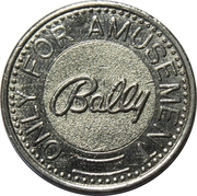 Jeton - Bally (Only For Amusement) – revers