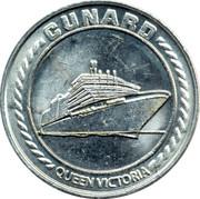 Cunard Queen Victoria Casino Token – revers