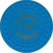 Jeton de casino - Ladbroke Casinos (100) – revers