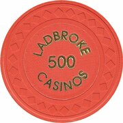 Jeton de casino - Ladbroke Casinos (500) – revers